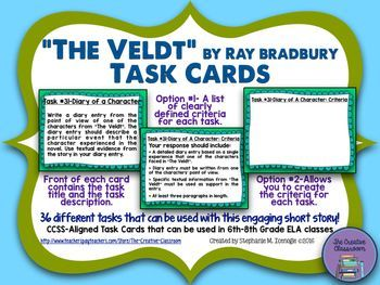 the veldt by ray bradburry essay Contextualization raymond douglas, known as ray bradbury is an american fantasy, horror, science fiction, and mystery writer bradbury was born in illinois in 1920.