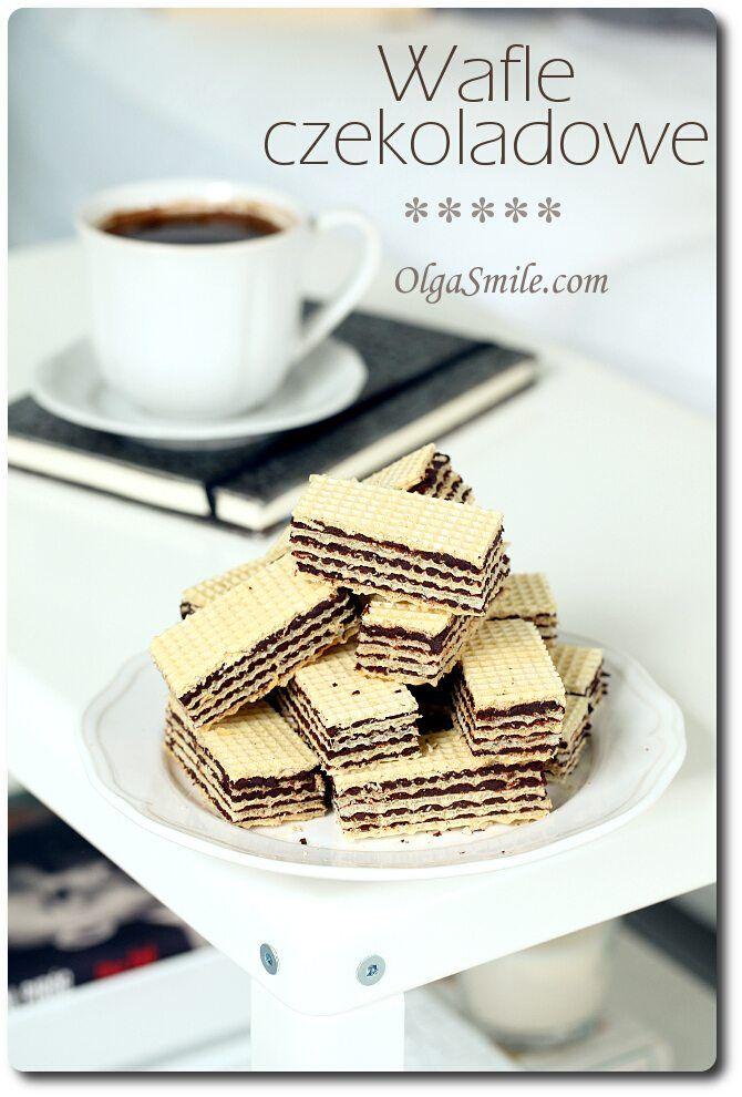 Waffles with cream - Chocolate waffels