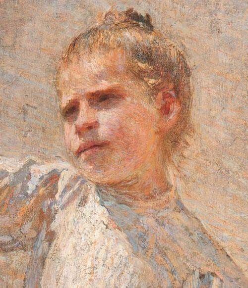 Emilio Longoni (Barlassina, 1859 – Milano, 1932) Ona staderada (La venditrice di frutta), 1891, particolare Olio su tela, 154x91 cm