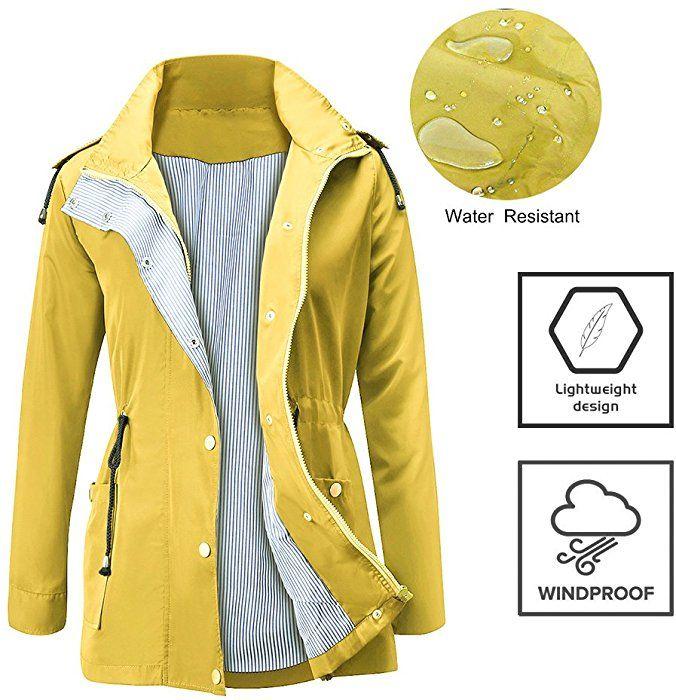 0b8f3fff43e8b FISOUL Raincoats Waterproof Lightweight Rain Jacket Active Outdoor ...