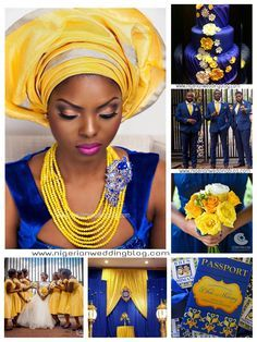 Nigerian Wedding: Navy Blue & Yellow Wedding Color Scheme | Nigerian Wedding