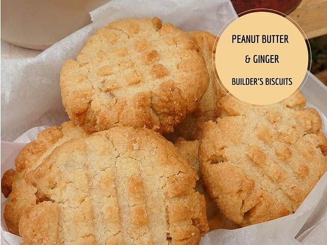 Peanut Butter & Ginger Builder's Biscuits * Get the recipe at TIFFIN - bite sized food adventures -