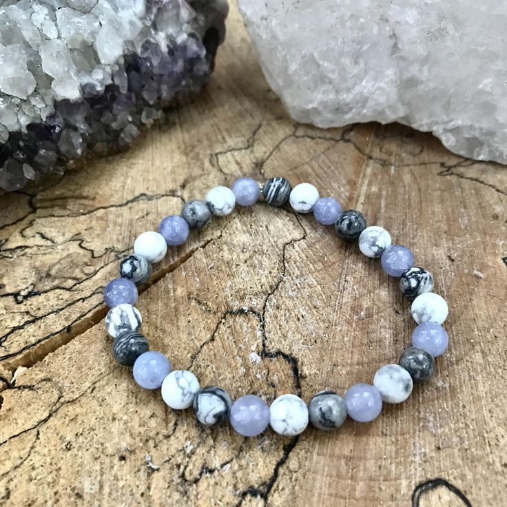 A personal favorite from my Etsy shop https://www.etsy.com/ca/listing/520412666/quartzite-howlite-picture-jasper