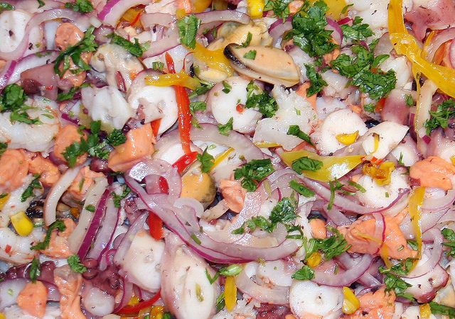 Ceviche Mixto de Pescados y Mariscos
