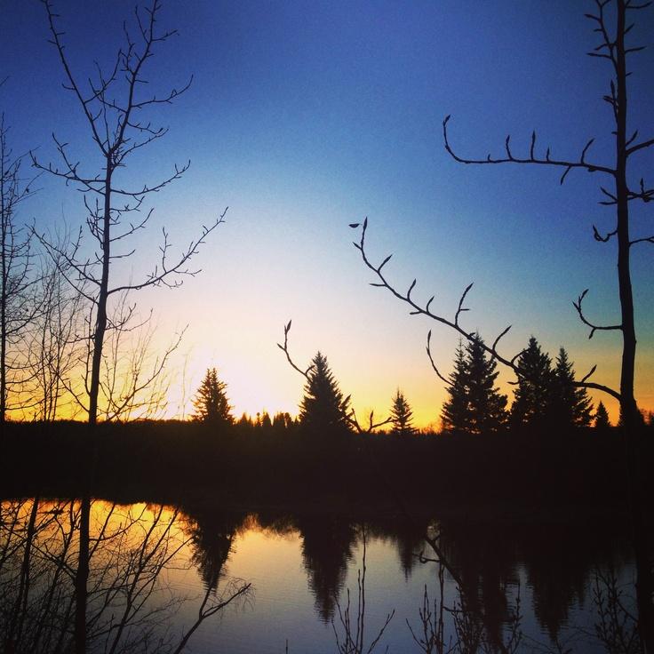 YYC sunset by weaselhead at Glenmore Rez