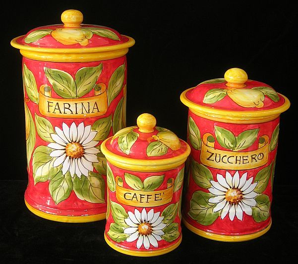 1000 images about kitchen canisters on pinterest metals for Italian kitchen set