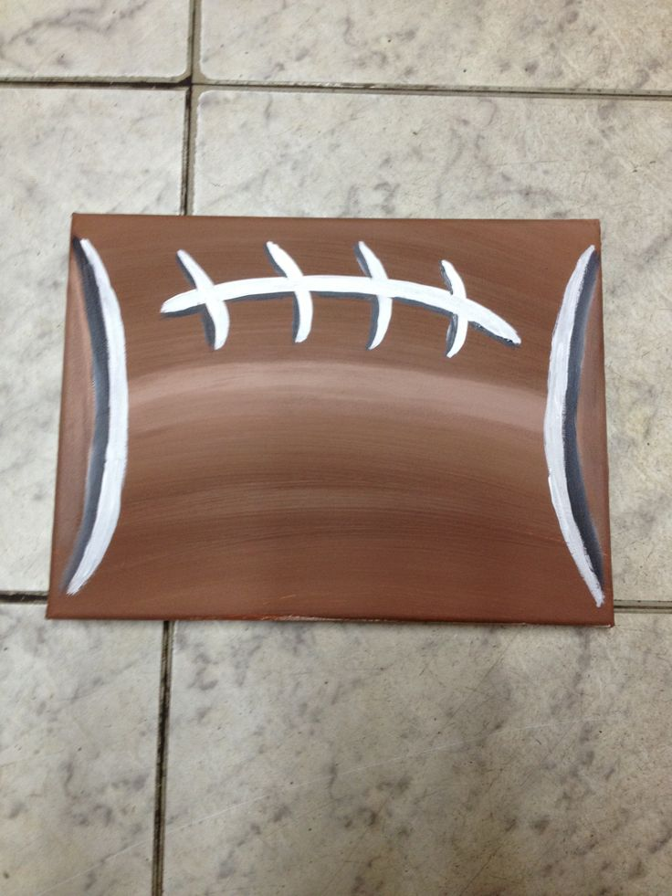 Football canvas DIY