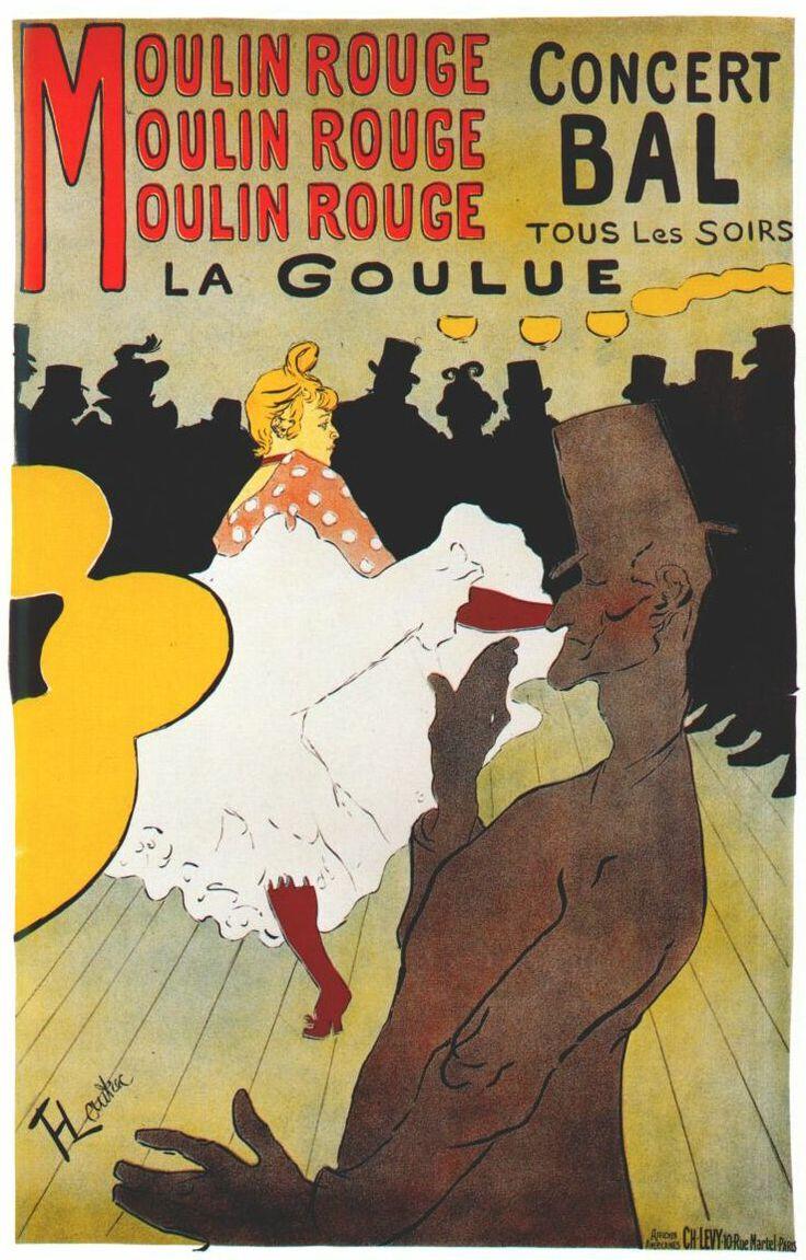 Lautrec moulin rouge, la goulue (poster) 1891 - Henri de Toulouse-Lautrec – Wikipédia, a enciclopédia livre