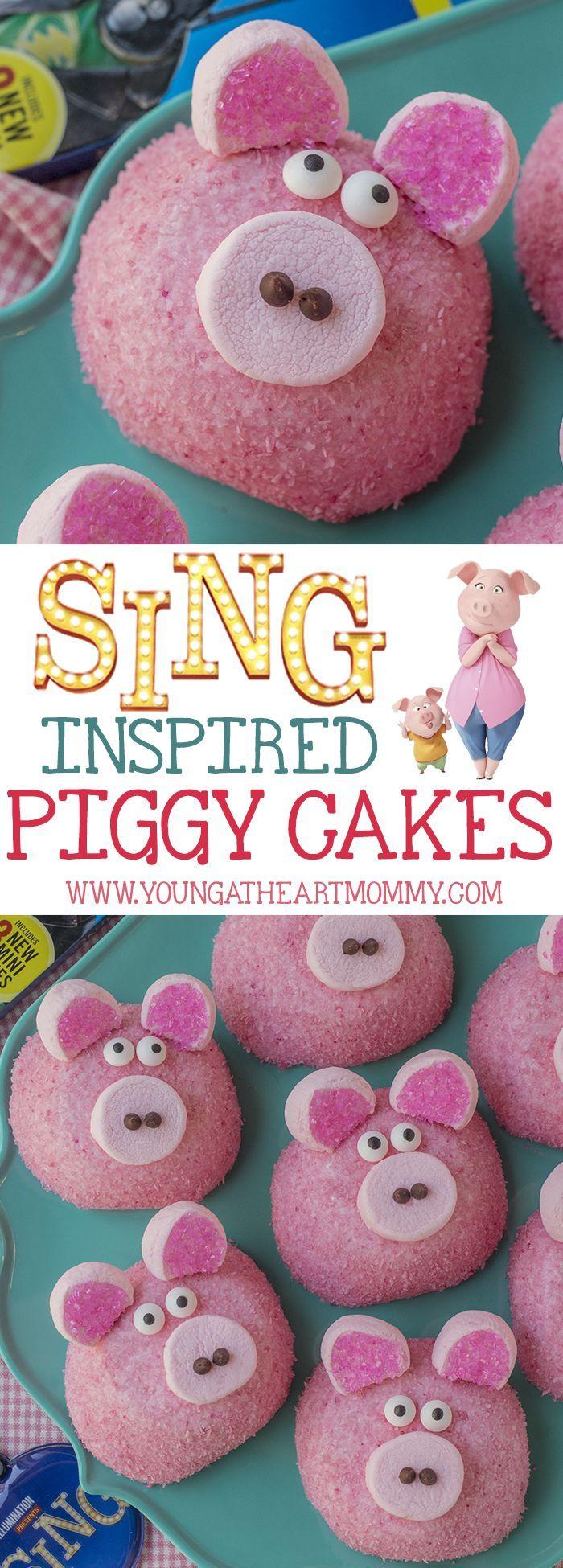 SING Movie inspired Rosita Piggy Cakes  #SingAuditions #SingMovie