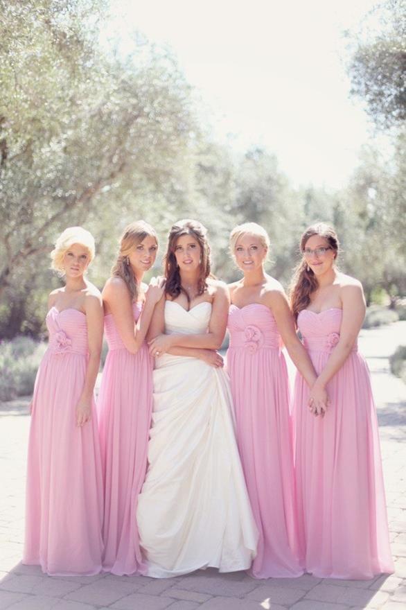 Mejores 55 imágenes de Pink Bridesmaids Dresses en Pinterest ...