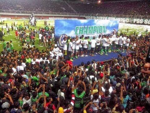 Selebrasi Para Pemain PSS Sleman Juara Divisi Utama LPIS - 10 November 2013