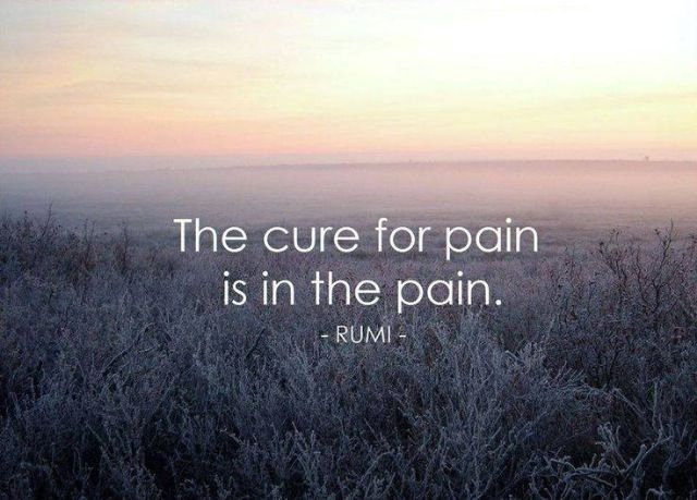 Rumi quote / The cure of pain