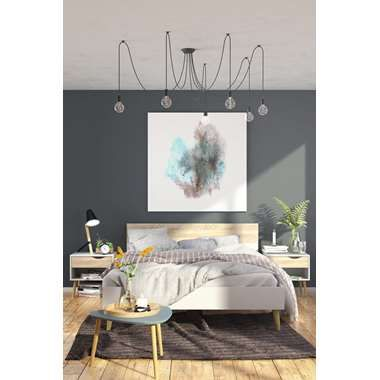 Bed Delta - wit/eikenkleur - 160x200 cm | Leen Bakker