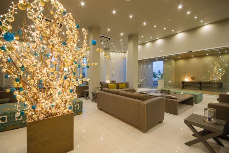 decoração natal recepção Hotel Oásis Praiamar