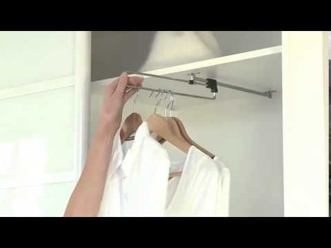 Вешалка выдвижная для одежды в шкаф Выдвижная штанга