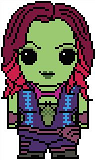 (10) Name: 'Embroidery : Guardians of the Galaxy: Gamora