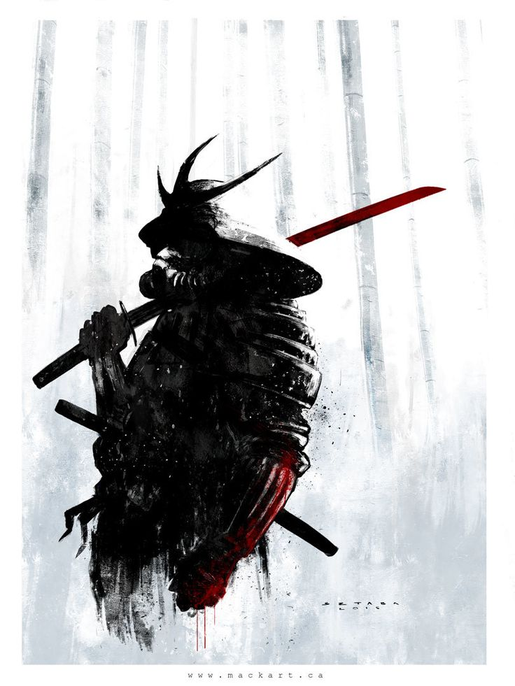 Samurai II, Mack Sztaba on ArtStation at https://www.artstation.com/artwork/samurai-ii