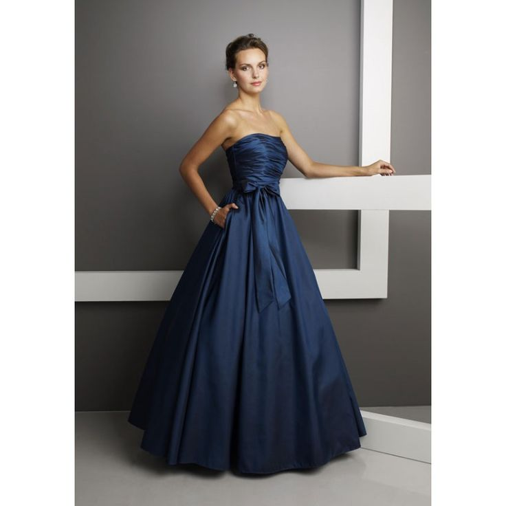 Navy blue wedding dress navy dark blue wedding dresses for Mori lee taffeta wedding dress