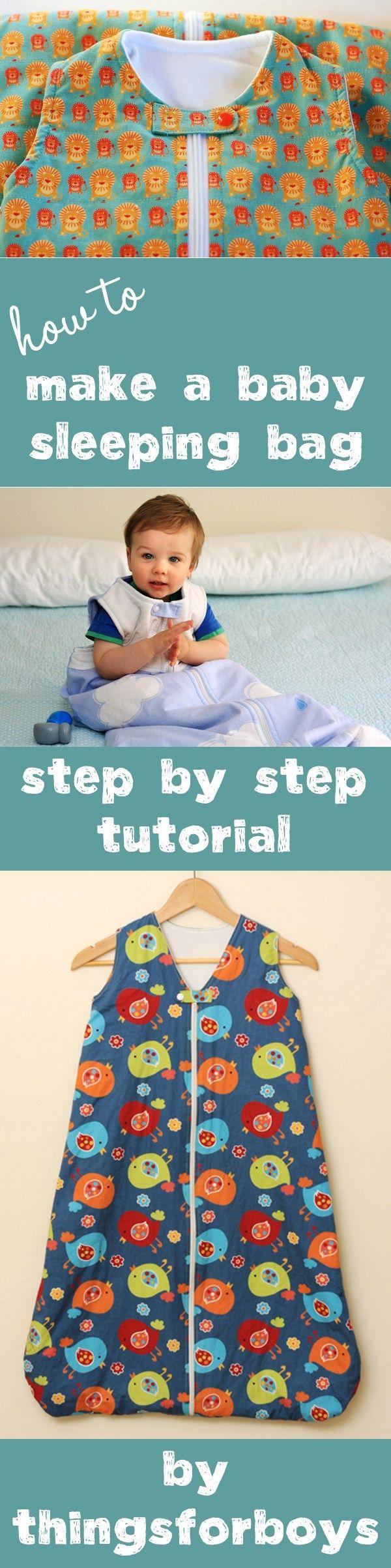 How to make a baby sleep sack - step by step tutorial