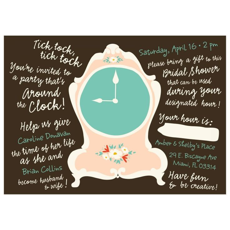 9 best Around The Clock Shower Invitations images on Pinterest ...