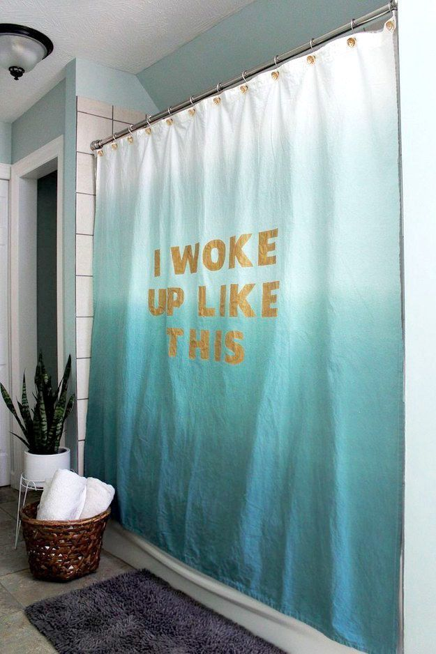 Stencil your favorite Beyoncé quote on your shower curtain. | 17 Gorgeous Bathroom Upgrades That Only Look Expensive