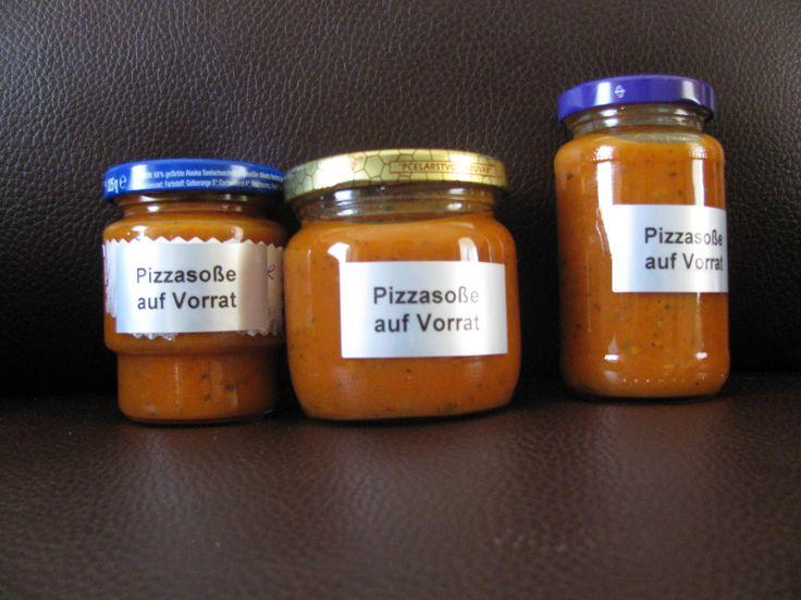 Rezept Pizzasoße auf Vorrat Rezept des Tages 30.09.2014 von Tina 1964 - Rezept der Kategorie Saucen/Dips/Brotaufstriche