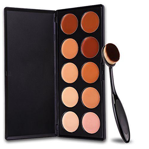 DELANCI 10 Colors Pro Cosmetics Cream Concealer Makeup ...