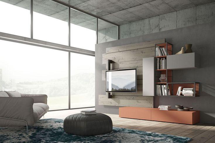 Soggiorni moderni industrial, mobili vintage by Fimar
