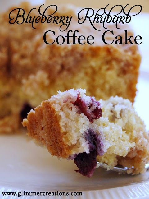 Blueberry Rhubarb Coffee Cake Recipe from www.glimmercreations.com
