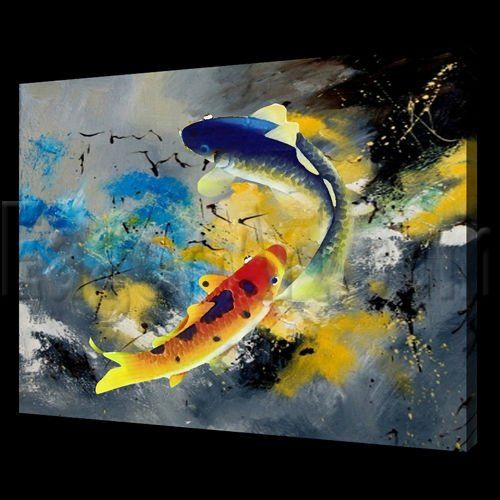 Coy fish oil paintings and animal paintings on pinterest for Abstract animal paintings