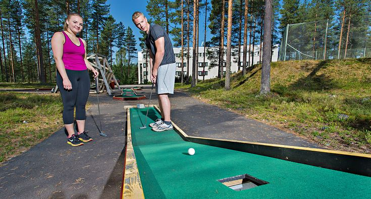 Minigolf. Activities - Rokua Geopark, Finland. Rokua Health & Spa Hotel.