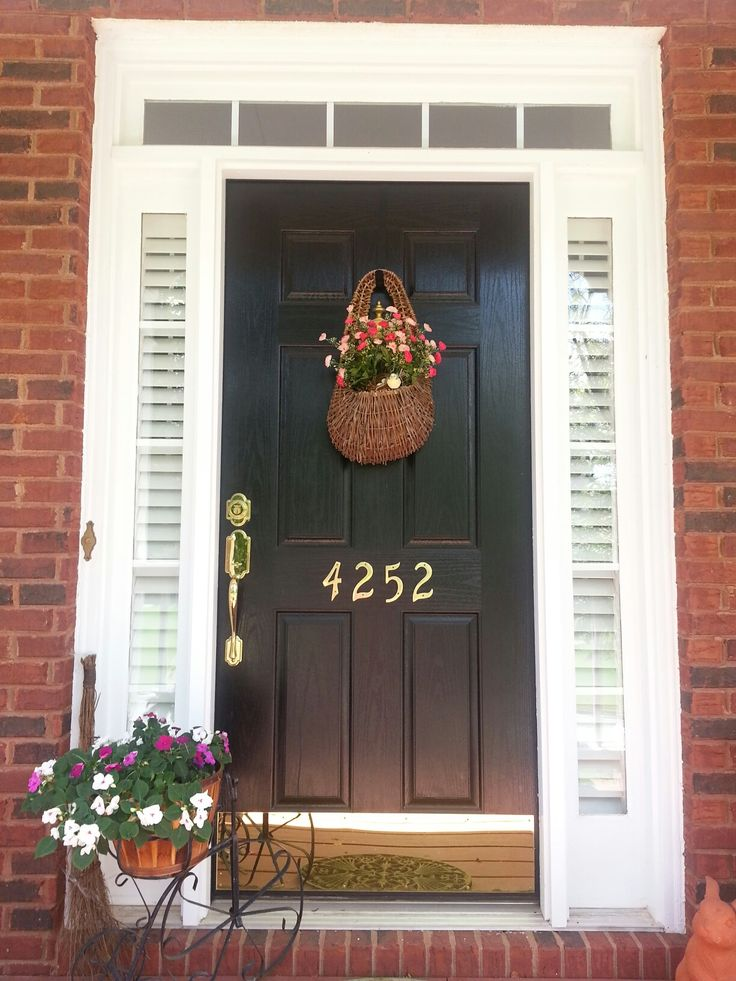 Front door with only blinds in the sidelights dream for Should plantation shutters match trim