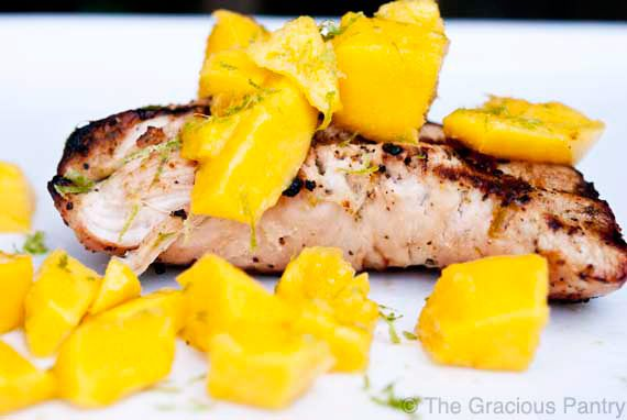 Clean Eating BBQ Lime And Mango Turkey Recipe ~ http://www.thegraciouspantry.com