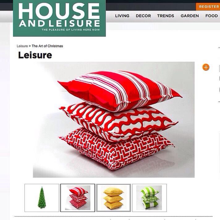 My cushions being featured on House and Leisure website...