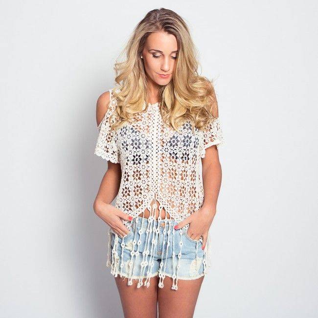 Crochet Love Top -  - Now available @ www.myfavouritemusthaves.com #newarrivals #ibiza #summer #musthaves
