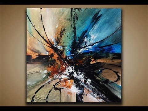 Abstract painting DEMO 36 / Abstract art / Palette knife / Drawing technique – YouTube
