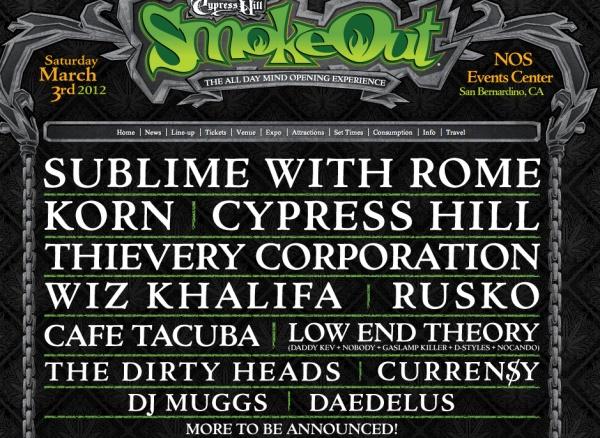 Smokeout Festival 2012 Lineup