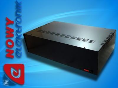 Obudowa metalowa T444 CZARNA bezpie. 440x260x120mm