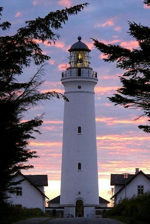 Hirtshals Lighthouse, Jutland, Denmark, 1863