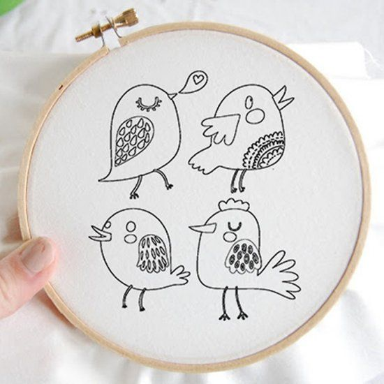 Here are some cute bird embroidery patterns you can pick up for free on grafficalmuse.com. I hope you enjoy!