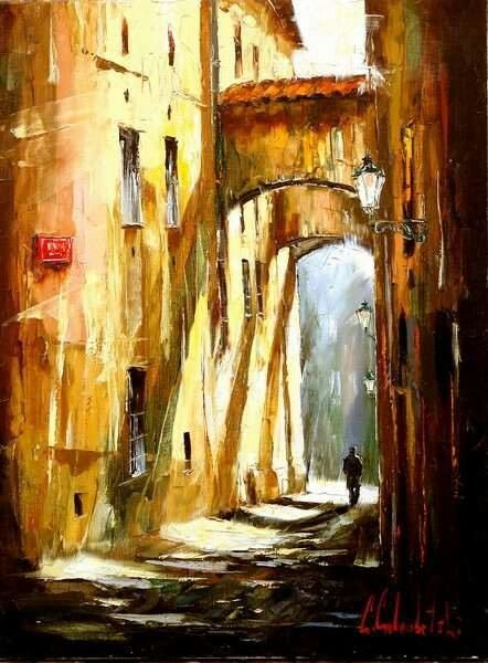 Best WC City Streets Images On Pinterest Watercolors Urban - Astonishing photorealistic paintings of places seen through wet car windshields