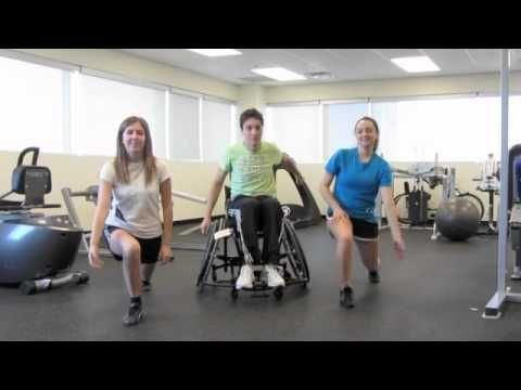 Exercise video for people with disabilities.