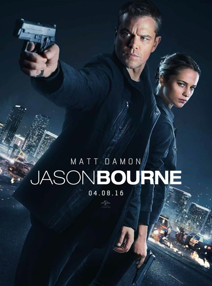 Matt Damon & Alicia Vikander in Jason Bourne. Última entrega 2016. Acción.