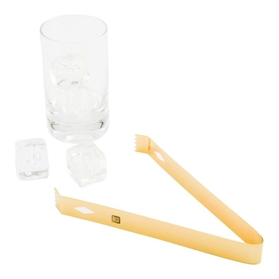 Bar Lux Gold-Plated Ice Tongs 1 count box