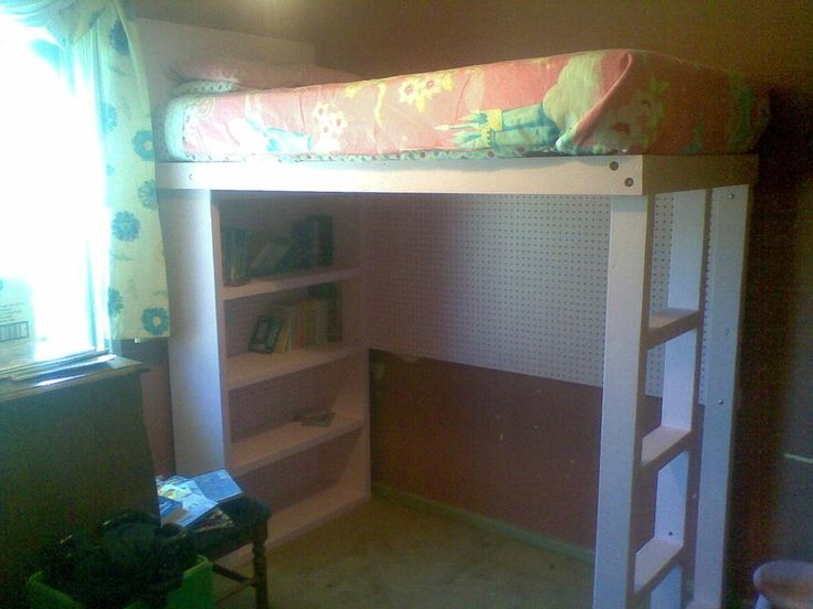 Diy Dorm Room Crafts Diy Loft Bed With Built In