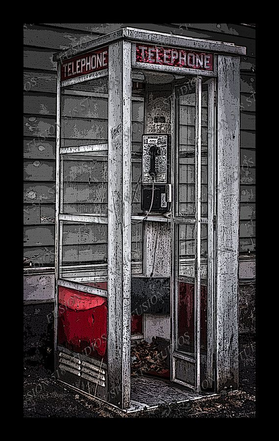 Like and Follow us at www.facebook.com/CasualsandCouture  vintage phone  Vintage Telephone Booth by ArtworkByTj on Etsy, $2.99