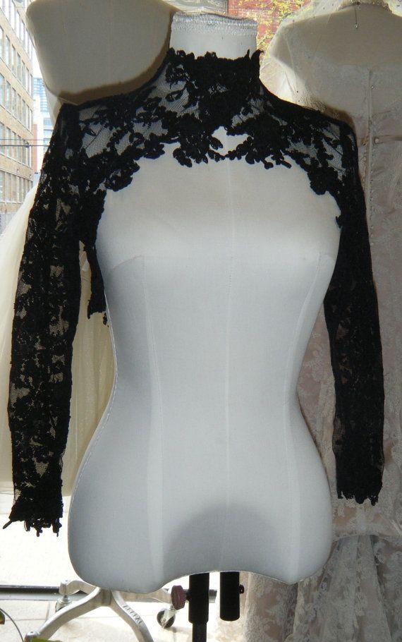 Costura de encaje bolero alta moda de encaje por icoutureicouture