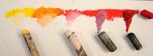 Oil pastels Techniques, detailed lesson ideas.