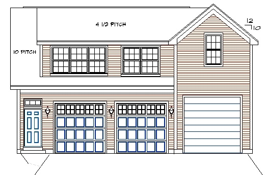Rv high bay garage with 2 br apartment house plans for 2 bay garage with loft