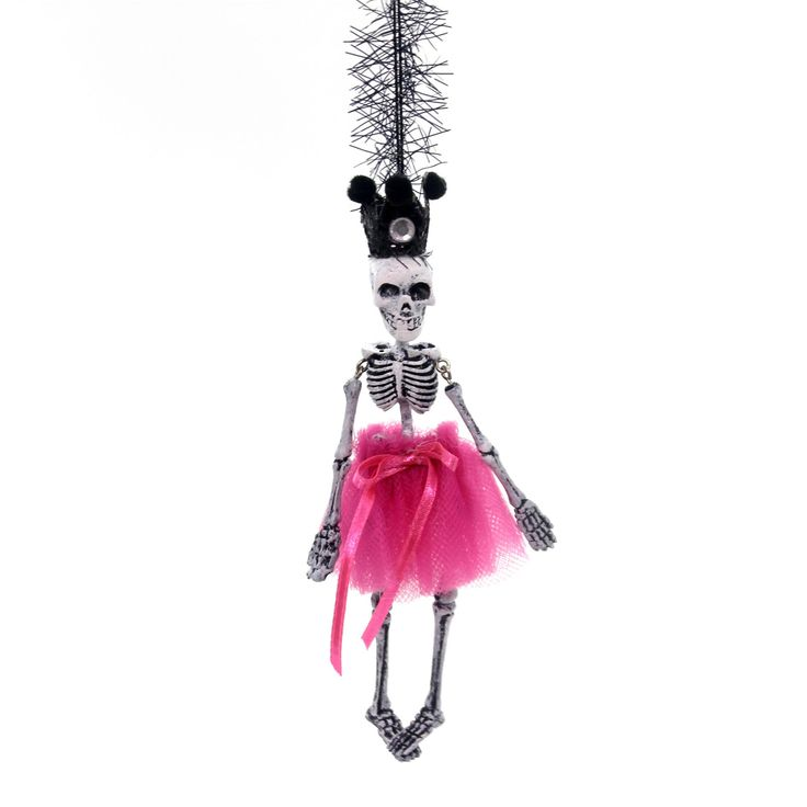 Halloween Skeleton Dangle Ornament Halloween Ornament Height: 6 Inches Material: Polyresin Type: Halloween Ornament Brand: Halloween Item Number: Halloween 4052637 PINK Catalog ID: 31038 New. Measures
